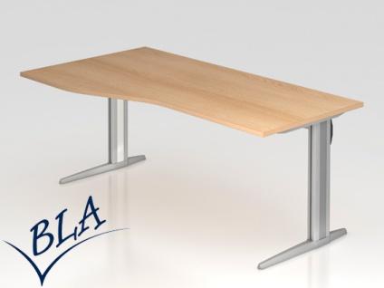 Schreibtisch Hammerbacher XS-Serie 160 x 80 cm Eiche Dekor