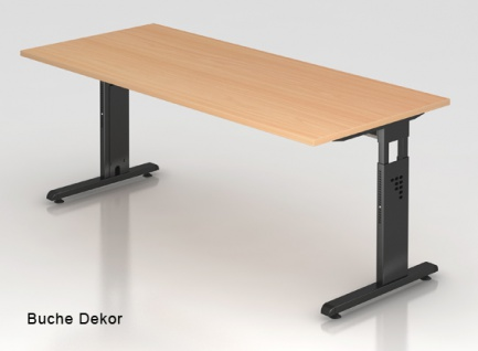 Schreibtisch Hammerbacher O-Serie 180 x 80 cm Buche Dekor