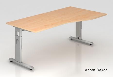 Schreibtisch Hammerbacher O-Serie 180 x 100 - 80 cm Ahorn Dekor