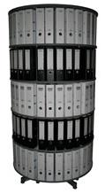 Drehsäule für Ordner RFF 100 cm 5 Etagen gesamt drehbar grau