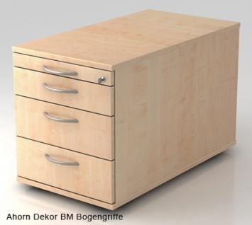 Schreibtischcontainer Hammerbacher Solid 3S Tiefe 80 cm Ahorn Dekor