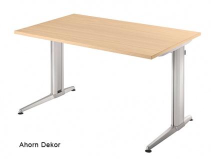 Schreibtisch Hammerbacher XS-Serie 120 x 80 cm Ahorn Dekor