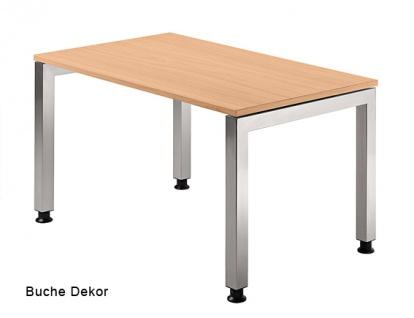 Schreibtisch Hammerbacher J-Serie 120 x 80 cm Buche Dekor