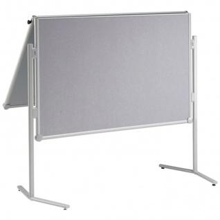 Präsentationstafel Maul Pro Pinnwand klappbar Glasfaser grau
