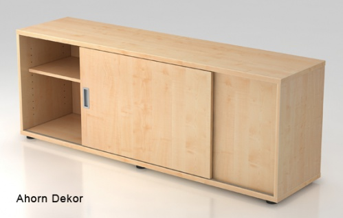 Schiebetürenschrank Hammerbacher Basic 1 1-5OH 160 x 60 x 40 cm graphit Buche