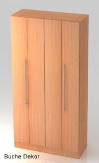 Falttürenschrank Hammerbacher Solid 5OH Türen 100 x 42 x 201 cm Buche Dekor