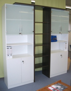 Büro Schrankwand Pendo Vari N 226 x 227 x 60 cm 6 OH Auswahl Farbe Optionen