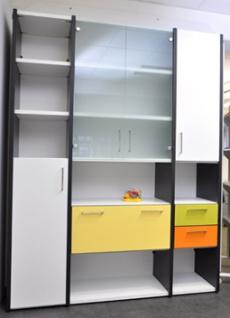 Büro Schrankwand Pendo Multi 172 x 44 x H 221 cm 6 OH Auswahl Farbe Optionen