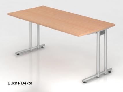 Schreibtisch Hammerbacher N-Serie 160 x 80 cm Buche Dekor
