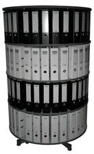Drehsäule für Ordner RFF 100 cm 4 Etagen gesamt drehbar Buche