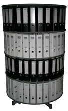 Drehsäule für Ordner RFF 100 cm 4 Etagen gesamt drehbar grau