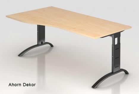 Schreibtisch Hammerbacher F-Serie 180 x 100-80 cm Ahorn Dekor