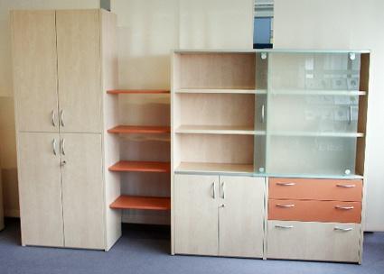 Büro Schrankwand Pendo Multi 314 x 44 x H 221 cm 6 OH Auswahl Farbe Optionen