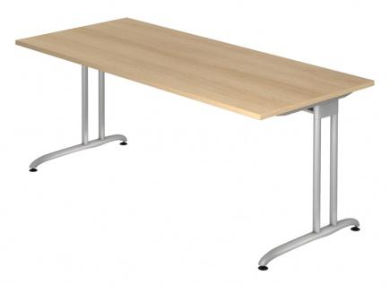 Schreibtisch Hammerbacher B-Serie 180 x 80 cm Eiche Dekor