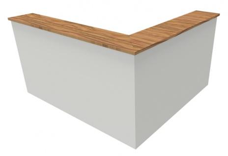 Empfangstheke Arbeitsplatz Pendo Strato Basic L-Form 2 Auswahl Farbe Optionen - Vorschau 2