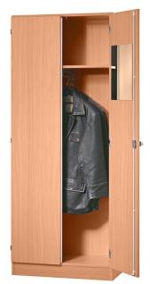 Garderobenschrank Hammerbacher Solid S 5OH Türen 80 x 42 x 201 cm officegrau Ahorn Dekor