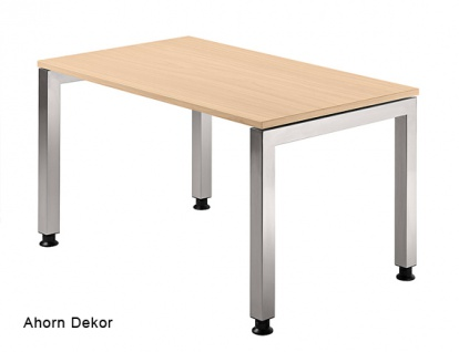 Schreibtisch Hammerbacher J-Serie 120 x 80 cm Ahorn Dekor