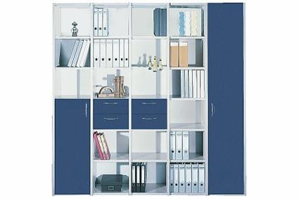 Büro Schrankwand Pendo Multi 217 x 44 x H 221 cm 6 OH Auswahl Farbe Optionen