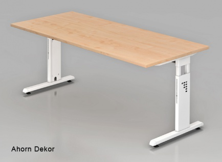 Schreibtisch Hammerbacher O-Serie 200 x 100 cm Ahorn Dekor