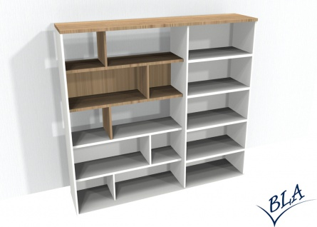Design-Büroregal Kombination Pendo Vari Edo 220 x 189 x 40 cm Farbauswahl