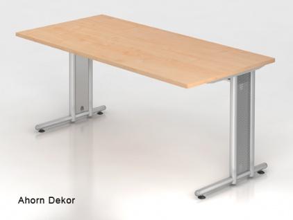 Schreibtisch Hammerbacher N-Serie 160 x 80 cm Ahorn Dekor