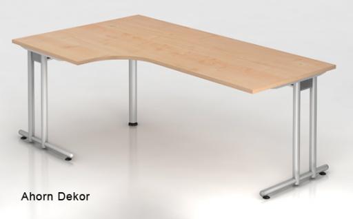 L-Schreibtisch Hammerbacher N-Serie 200 x 120-80 cm Ahorn Dekor