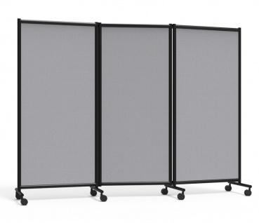 Dreiteilige Stellwand Lintex One Screen Tripple Mobil grau schwarz