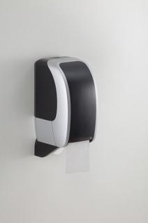 Toilettenpapierspender Metzger Cosmos silber schwarz