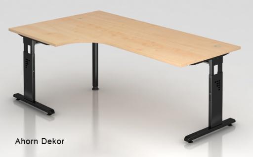 L-Schreibtisch Hammerbacher O-Serie 200 x 120-80 cm Ahorn Dekor