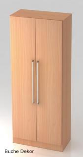 Büroschrank Hammerbacher Solid OS 5 OH Türen 5 OH 80 x 42 x 201 cm Buche Dekor
