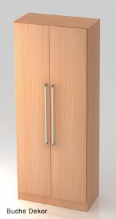 Garderobenschrank Hammerbacher Solid 5OH Türen 80 x 42 x 201 cm Buche Dekor