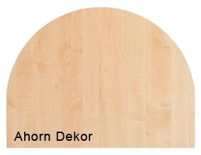 Anbauplatte Hammerbacher 80 cm rund Q-Serie Ahorn Dekor
