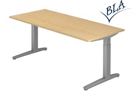 Schreibtisch Hammerbacher XB Elektro Aktiv 180 x 80 cm Ahorn Dekor silber