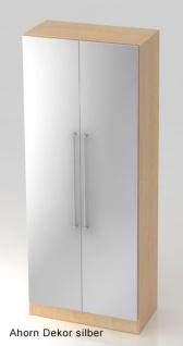 Garderobenschrank Hammerbacher Solid 5OH Türen 80 x 42 x 201 cm Ahorn Dekor silber