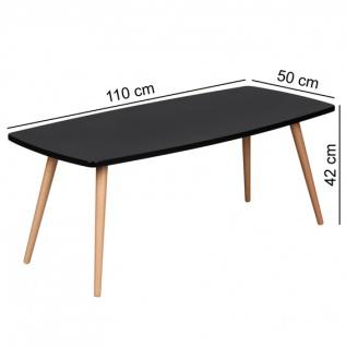 Couchtisch WNG Schwedter Retro 110 x 50 x 42 cm schwarz Fuss Buche Vor-Ort-Artikel - Vorschau 2