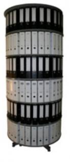 Drehsäule für Ordner RFF 100 cm 6 Etagen gesamt drehbar grau