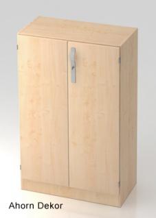 Büroschrank Hammerbacher Solid SS 3 OH Türen 80 x 42 x 127 cm Ahorn Dekor