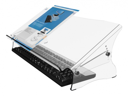 Blatthalter Dataflex verstellbar Acryl klar