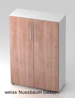 Büroschrank Hammerbacher Ulmer Somit 3 OH Türen 80 x 33 x 115 cm Auswahl Farbe Optionen