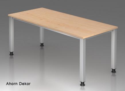 Schreibtisch Hammerbacher Q-Serie 180 x 80 cm Ahorn Dekor