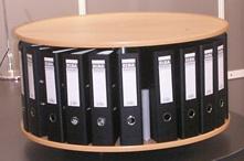 Drehsäule für Ordner RFF 81 cm 1 Etage Tischmodell Buche