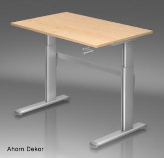 Schreibtisch Hammerbacher XK-Serie 120 x 80 cm Ahorn Dekor