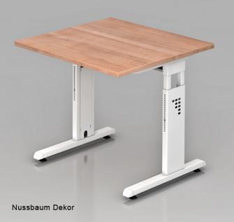 Schreibtisch Hammerbacher O-Serie 80 x 80 cm Nussbaum Dekor
