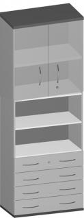 Schubladen-Büroschrank Pendo Vari Edo 6 OH 4S 80 x 224 x 44 cm Auswahl Farbe Optionen