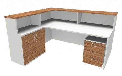 Empfangstheke Arbeitsplatz Pendo Strato Basic L-Form 1 Auswahl Farbe Optionen