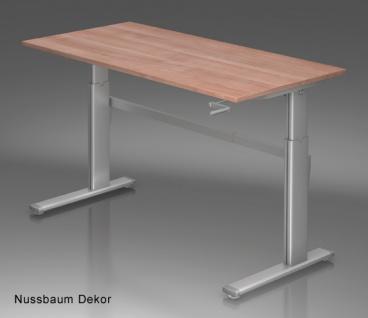 Schreibtisch Hammerbacher XK-Serie 160 x 80 cm Nussbaum Dekor