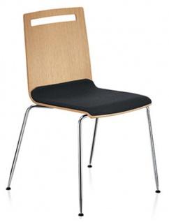 Konferenzstuhl Sedus Stoll Meeting 4-Fuss Furnier Sitzpolster Auswahl Farbe Optionen