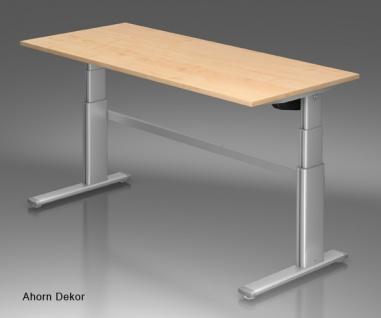 Schreibtisch Hammerbacher XM-Serie Elektromal 200 x 100 cm Ahorn Dekor