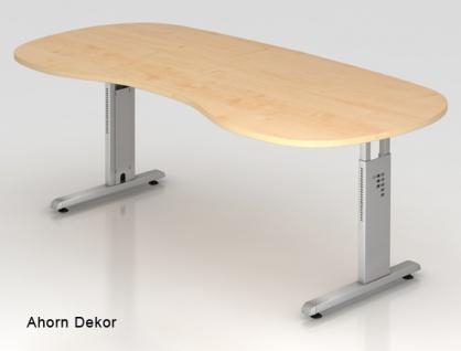 Chefschreibtisch Hammerbacher O-Serie 200 x 100 cm Ahorn Dekor