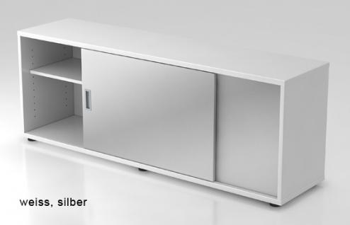 Schiebetürenschrank Hammerbacher Basic 1 1-5OH 160 x 60 x 40 cm weiss silber